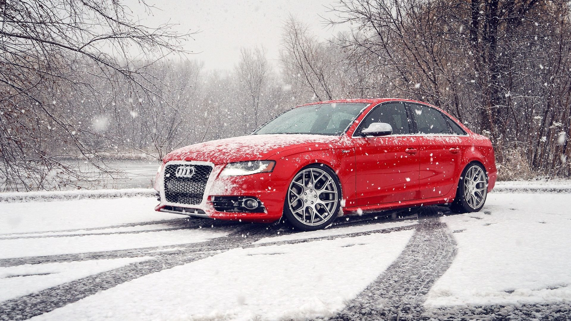 Latest Red Audi S4 Snow Winter Hd Wallpaper Download Car On Free Download