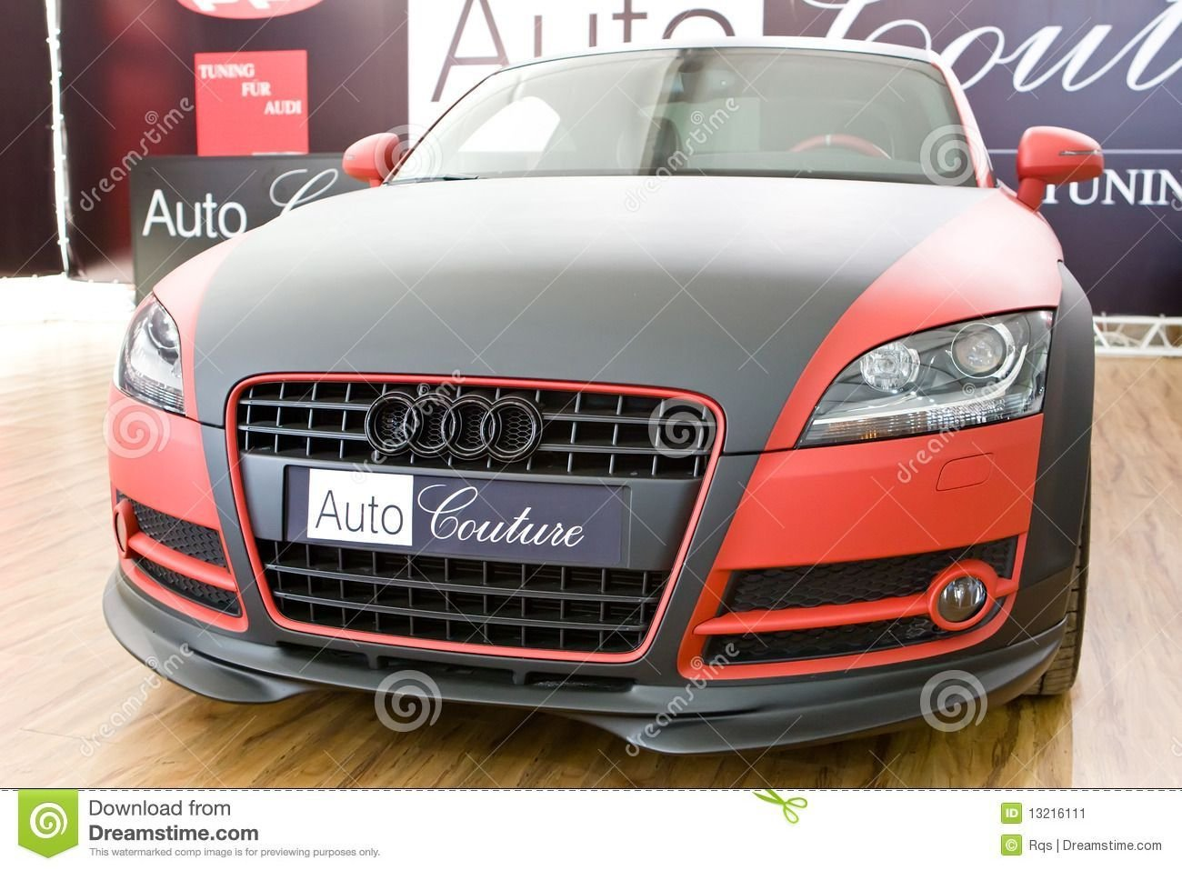 Latest Tag For Audi Car In Black Red Beautiful Green Background Free Download