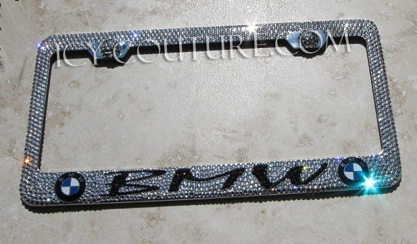 Latest Crystallized Bmw License Plate Frame Whats Your Car Model Free Download