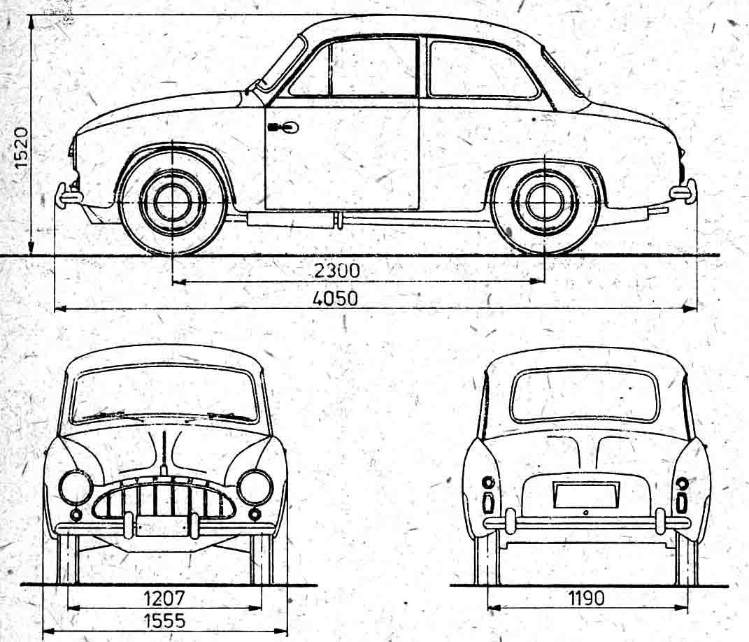 Auto Fso Syrena Prototyp Bild Bild Zeigt Abbildung Zeichnungen Schematisch Auto
