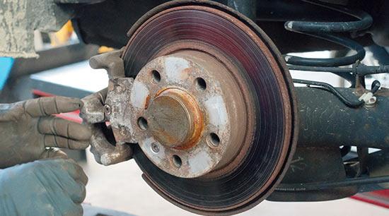 Squealing brakes worn rotors warped