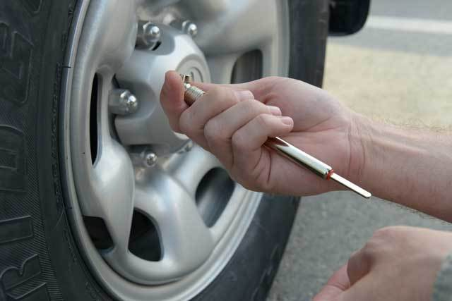 Take out nuts from wheel