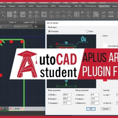 APlus architectural plugin for AutoCAD