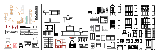 AutoCAD Furniture Library