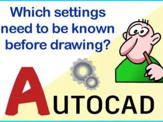 AutoCAD Workspace Settings