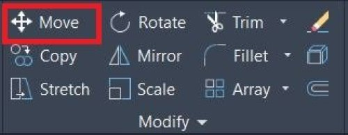 Modify panel Autocad