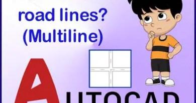 Multiline command in AutroCAD