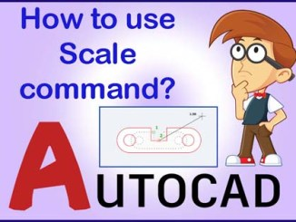 Scale command in AutoCAD
