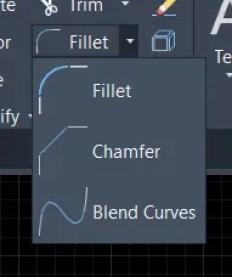 Modify panel d Autocad