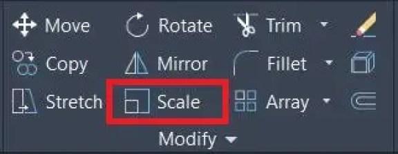 Autoccad Modify panel