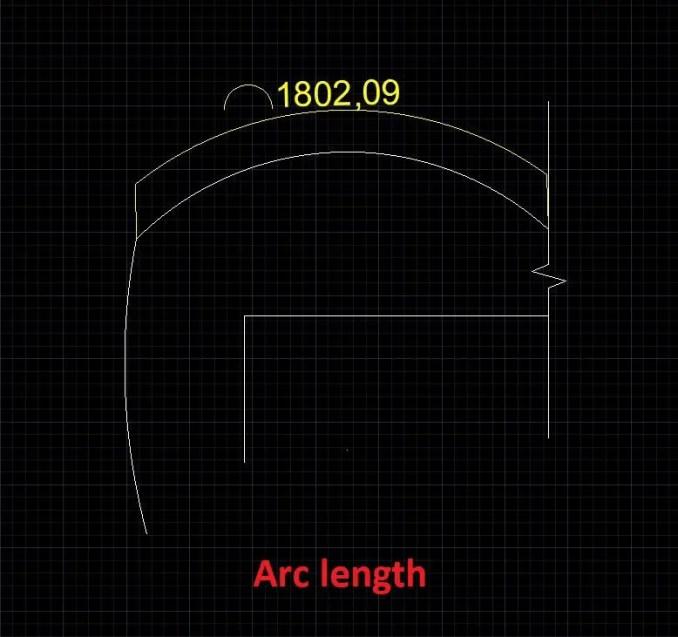 Arc length dimension-AutoCAD