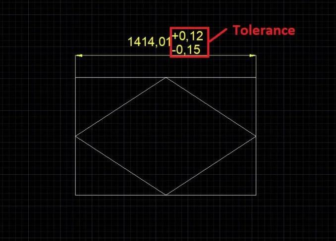 Tolerance setting-AutoCAD