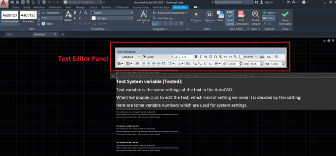 1 variable number in texted - AutoCAD