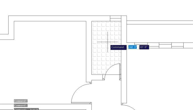 Hatch pattern cursor