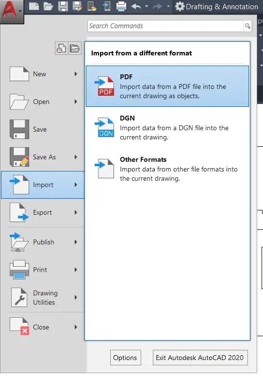 PDF Import-AutoCAD