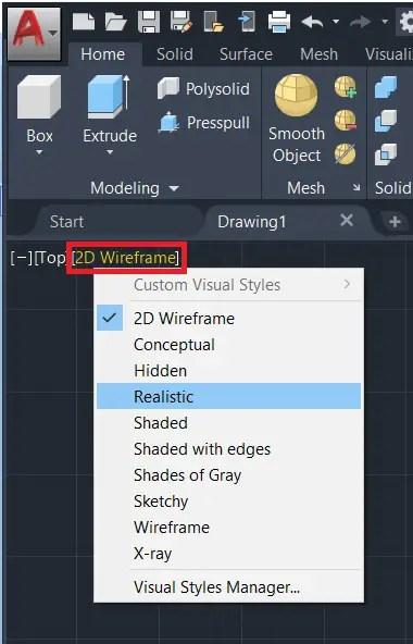 Realistic change - AutoCAD 3D