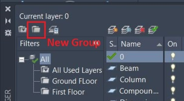 New Layer Group - AutoCAD