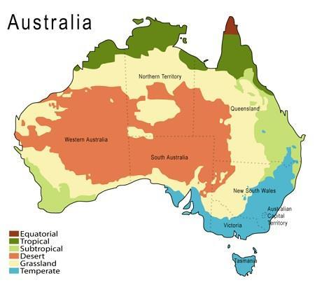australien klimazoner