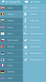 Trafikregler i Europa App 2