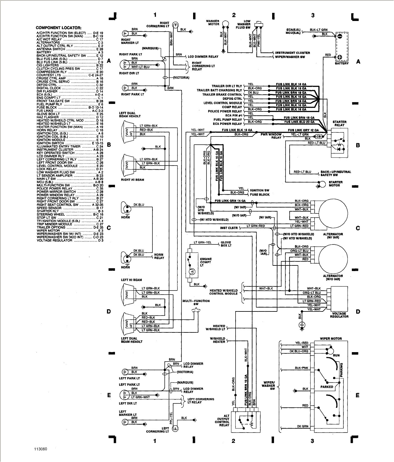 2001 GRAND MARQUIS WIRING DIAGRAM - Auto Electrical Wiring ...
