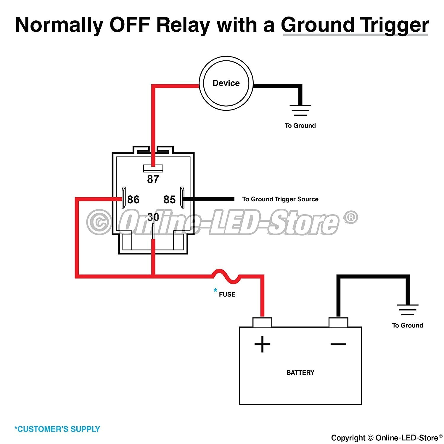 Wiring Diagram For A 4 Pin Relay