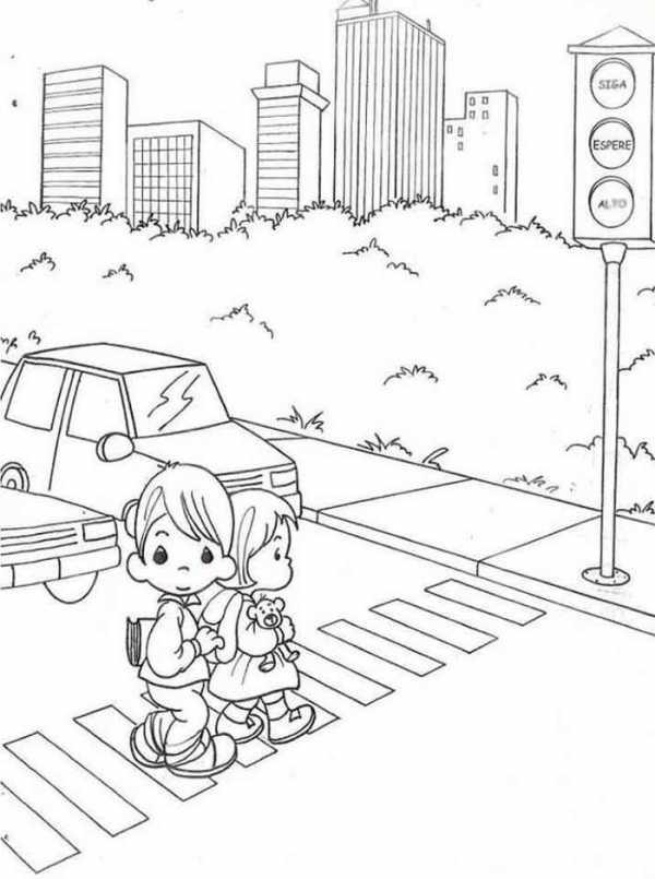 Рисунок на тему правила дорожного движения 5 класс