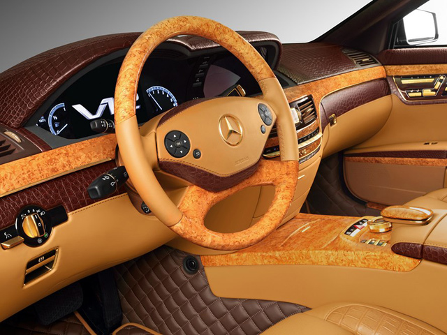 Armored Mercedes Benz S600 Guard Gets Bling With Gold