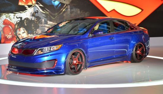 Superman-Inspired Kia Optima Hybrid 5