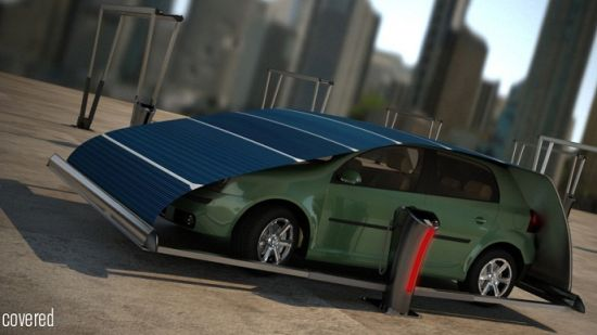 V-Tent solar powered parking space 5