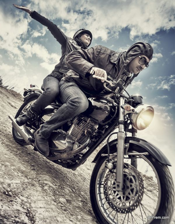 Active couple on motorcycle