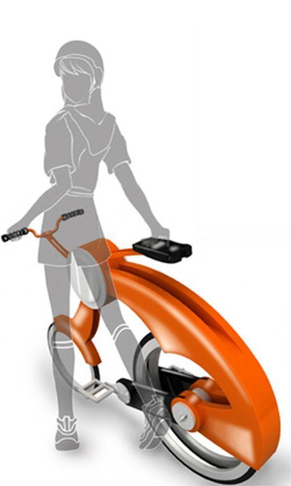 Rotation folding bicycle