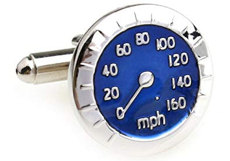 MRCUFF Speedometer Fuel Gauge Car Auto Racing Pair Cufflinks