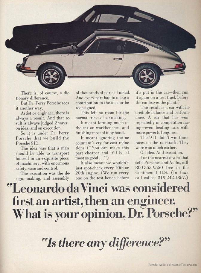 Original 1972 Porsche 911 Adverting