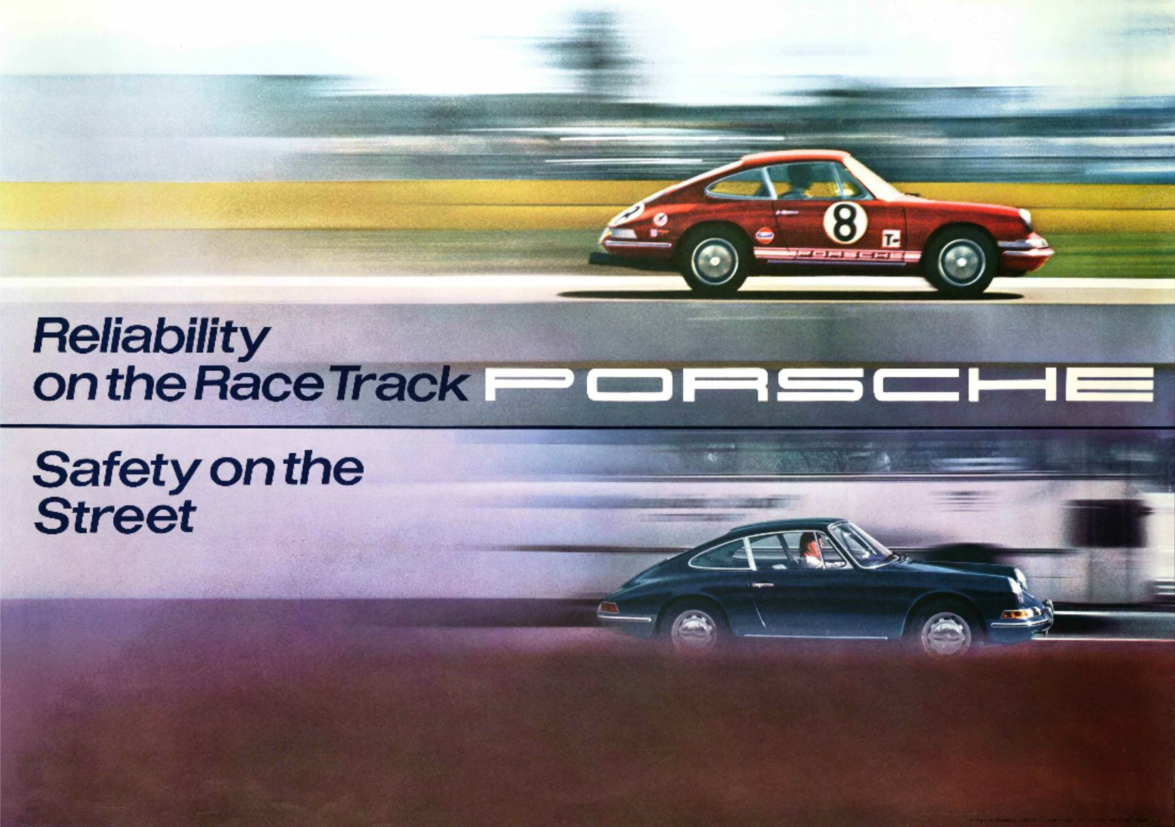 Original Porsche Sports Purpose Poster