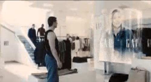 Minority Report Mall Scene