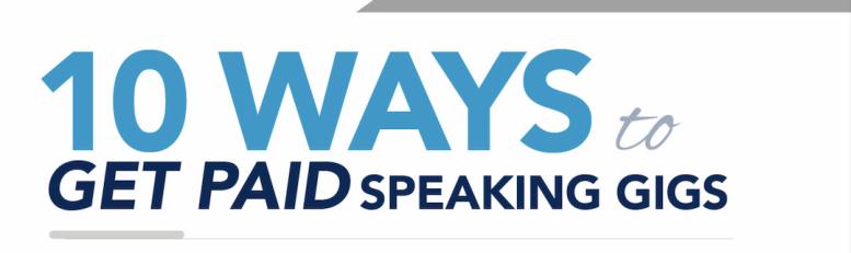 Robb Holman's 10 ways to get paid speaking gigs