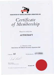 Autocraft is a member of AVRO