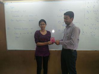 1st rank Priyanka Kankal 11th std