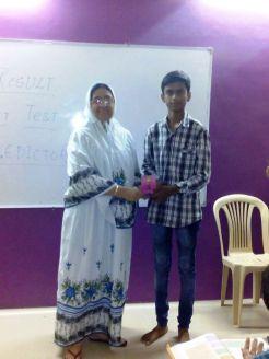 2nd rank Sahil Pandhade (10th std)