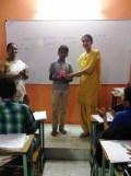 3rd rank Atharva Tale (8th std)