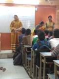 Hamida Madam addressing the students