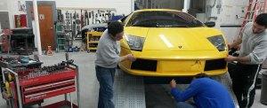 Auto Dent Care working on lamborghini