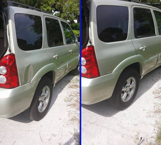 Mazda Tribute dent repair