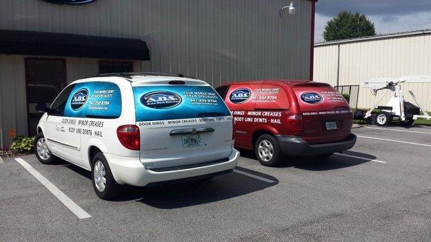Dent removal vans