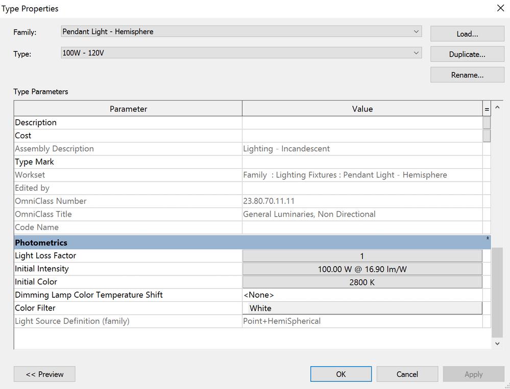 Revit Pendant Light Fixtures