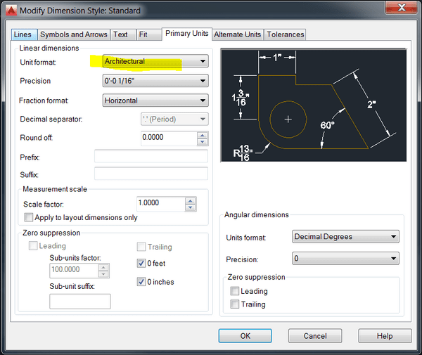 Solved How To Draw In Feet And Inches In Autocad