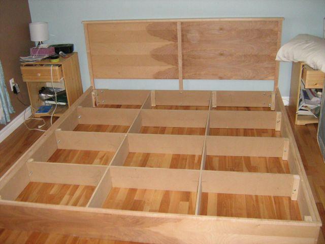 DIY King Platform Bed Plans