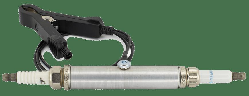Spark plug grounding clip adaptor