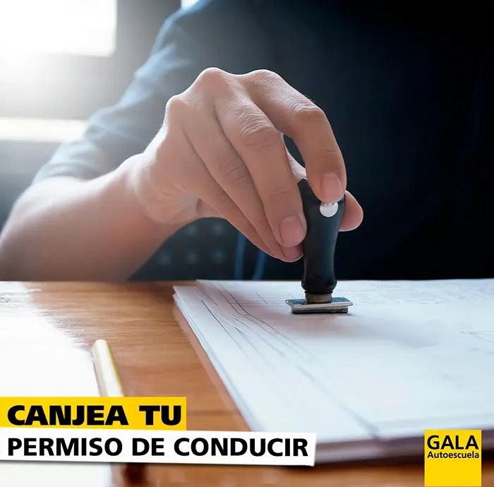 Canje-permiso-conduccion-autoescuela-gala