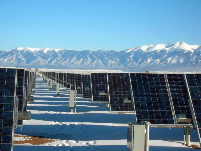 solar panel array, power plant, electricity